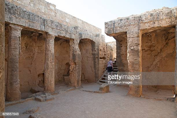 Tombs of the Kings Archaeological Park in Paphos Cyprus.
