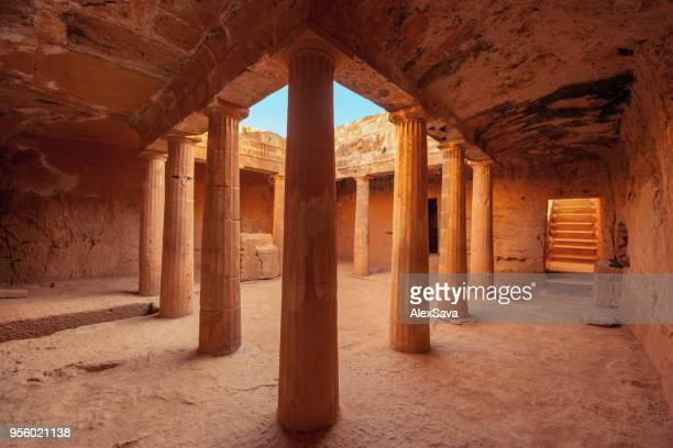 tombs of the kings in cyprus - republic of cyprus stock pictures, royalty-free photos & images