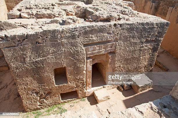 Tombs of the Kings major archaeological attraction in Paphos Cyprus.