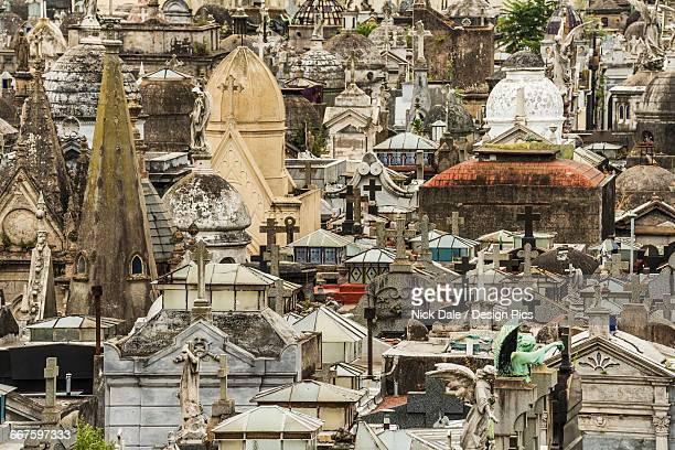 Tombs with crosses at La Recoleta Cemetery