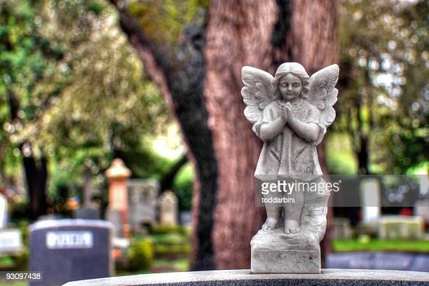 lapide angel (hdr - funerale foto e immagini stock