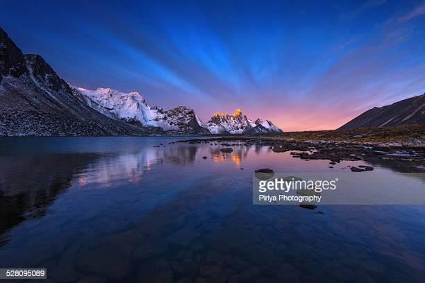 Tombstone mountain sunrise
