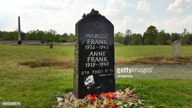 Tombstone of Anne and Margot Frank