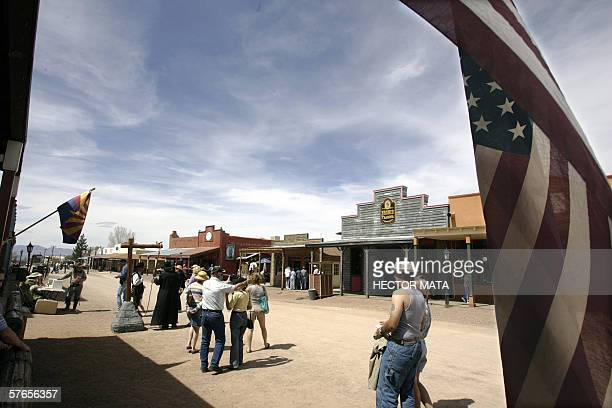 A view of the city of Tombstone in Arizona 26 March 2006 Chris Simcox the founder of the Minuteman Project organized the first minuteman volunteer...