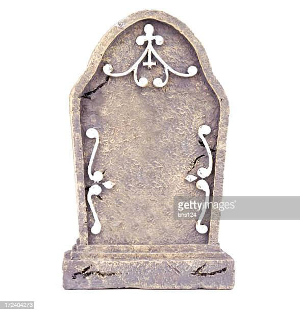 tombstone with clipping path - tombstone stock pictures, royalty-free photos & images