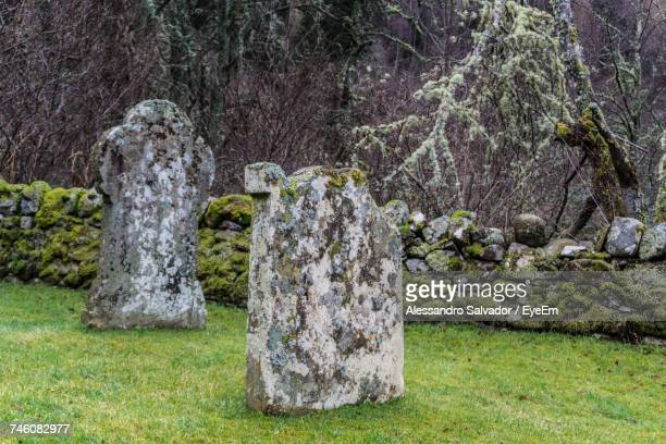 Tombstones At Scottish Highlands