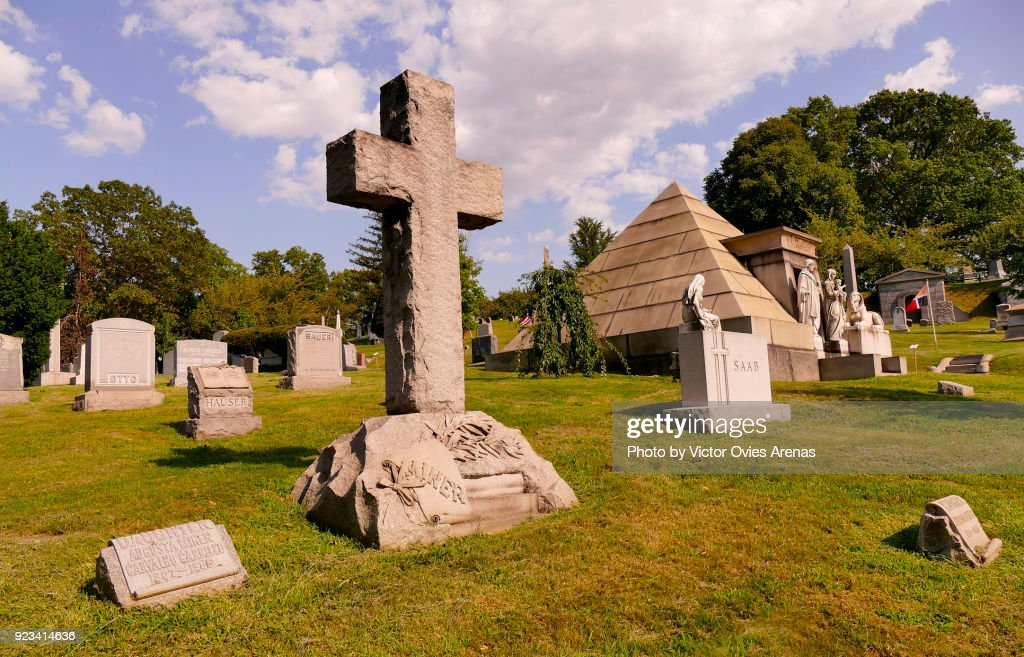 Tombstones, Greenwood Cemetery, Brooklyn, New York, USA : Foto de stock