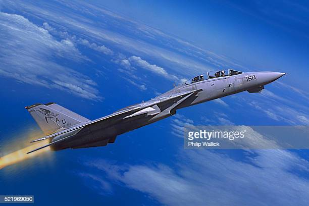 F-14 Tomcat with Afterburners On