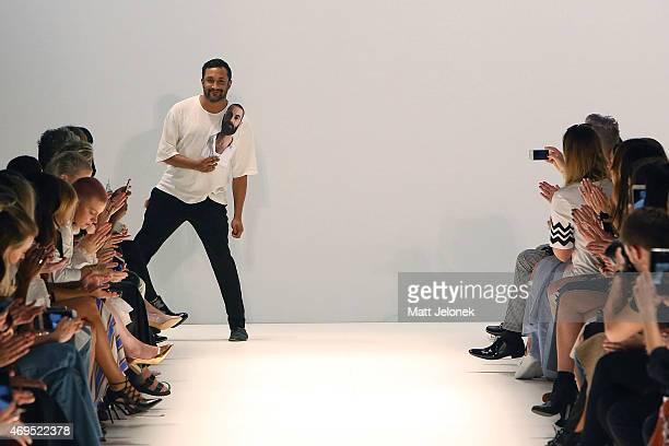 Tome designer Ryan Lobo show at MercedesBenz Fashion Week Australia 2015 at Carriageworks on April 13 2015 in Sydney Australia