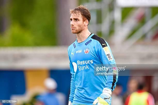 Tomer Chencinski goalkeeper of Helsingborgs IF during the allsvenskan match between Jonkopings Sodra IF and Helsingborgs IF at Stadsparksvallen on...