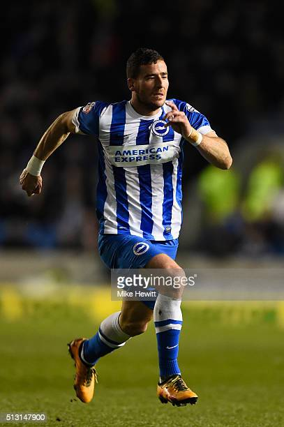 Tomer Hemed of Brighton Hove Albion in action during the Sky Bet Championship match between Brighton and Hove Albion and Leeds United at the Amex...