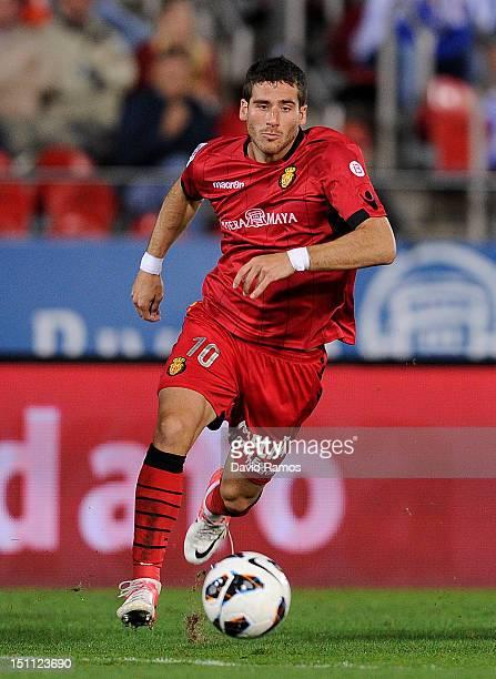 Tomer Hemed of RCD Mallorca runs with the ball during the La Liga match between RCD Mallorca and Real Sociedad de Futbol at Iberostar Stadium on...