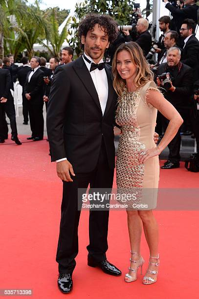 Tomer Sisley and Agathe de la Fontaine attend the 'Inside Llewyn Davis' premiere during the 66th Cannes International Film Festival