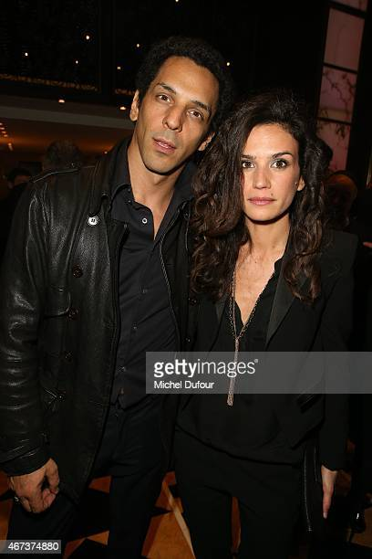 Tomer Sisley and Barbara Cabrita attend the 'Sauveteurs Sans Frontiere' Charity Party In Paris on March 23 2015 in Paris France