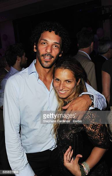 Tomer Sisley and Julie Madar attend the Lacoste Party during the Evian Masters 2012 in Evian