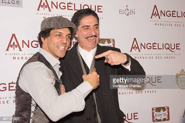 Tomer Sisley and Simon Abkarian attend the 'Angelique' Paris Premiere at Gaumont Capucines Cinema on December 16 2013 in Paris France