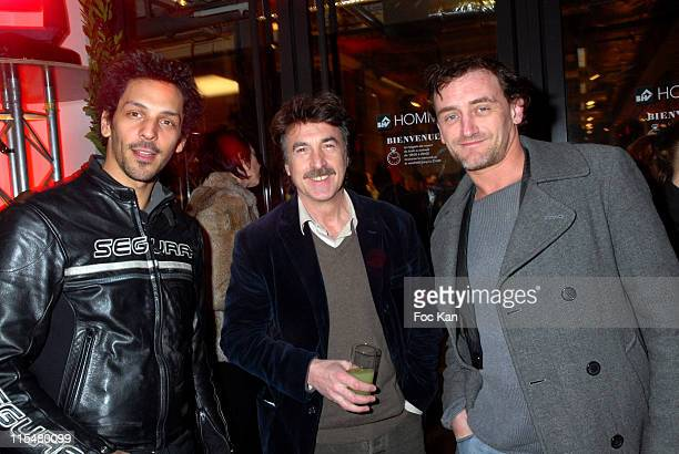 Tomer Sisley Francois Cluzet and Jean Paul Rouve during BHV Rivoli For Men Shop Opening Cocktail Party March 7 2007 at Bazar de L Hotel de Ville...