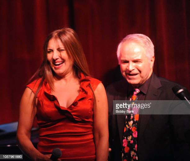 Tomey Sellars and Charles Calello perform with the Charles Calello Band at Birdland Jazz Club on November 5 2018 in New York City