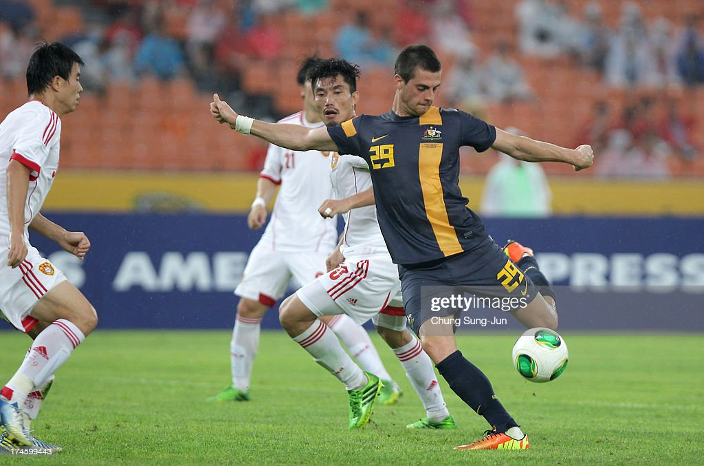 Tomi Juric of Australia in action during the EAFF East Asian Cup match between Australia and China at Jamsil Stadium on July 28, 2013 in Seoul, South Korea.