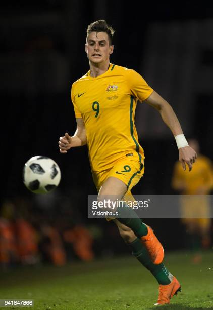 Tomi Juric of Australia in action during the International Friendly match between Australia and Colombia at Craven Cottage on March 27 2018 in London...