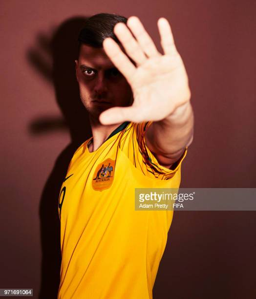 Tomi Juric of Australia poses for a portrait during the official FIFA World Cup 2018 portrait session at Trudovyne Rezeny on June 11 2018 in Kazan...