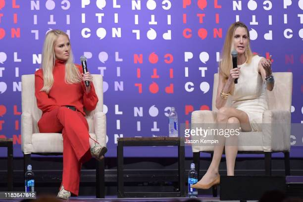 Tomi Lahren and Ann Coulter speak onstage during the 2019 Politicon at Music City Center on October 26 2019 in Nashville Tennessee