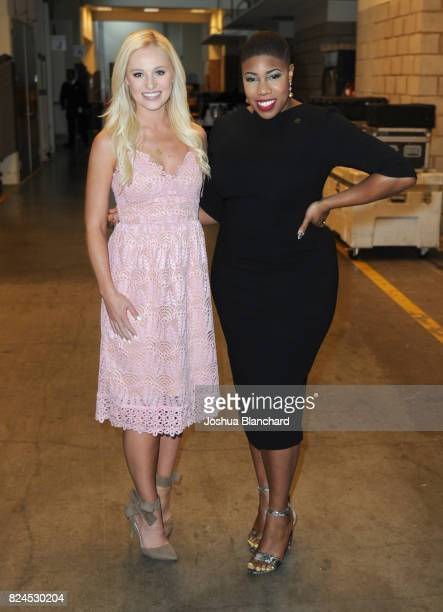Tomi Lahren and Symone Sanders at Politicon at Pasadena Convention Center on July 30 2017 in Pasadena California