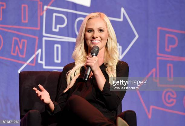 Tomi Lahren at 'Chelsea Handler in Conversation with Tomi Lahren' panel during Politicon at Pasadena Convention Center on July 29 2017 in Pasadena...