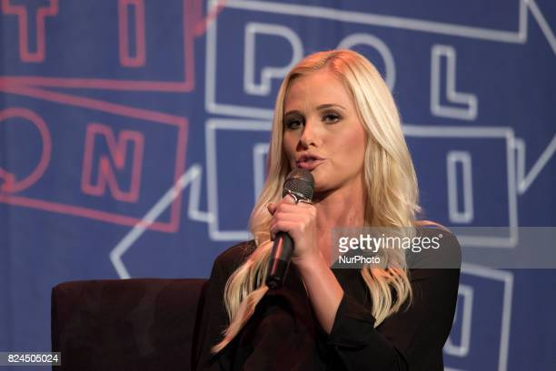 Tomi Lahren speaks during Politicon at the Pasadena Convention Center in Pasadena California on July 29 2017 Politicon is a bipartisan convention...