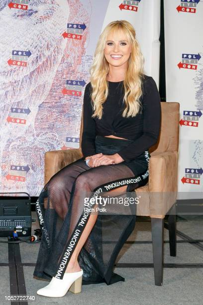 Tomi Lahren speaks onstage during Politicon 2018 at Los Angeles Convention Center on October 21 2018 in Los Angeles California