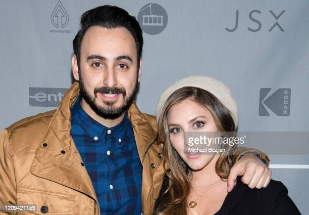 Tomik Mansoori and Cassie Scerbo arrive at the 3rd Annual Mammoth Film Festival Red Carpet - Friday on February 28, 2020 in Mammoth Lakes, California.
