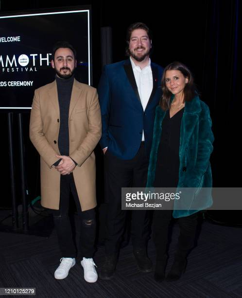 Tomik Mansoori Tanner Beard and Alexandra Chando arrive at 3rd Annual Mammoth Film Festival Red Carpet Monday on March 02 2020 in Mammoth Lakes...