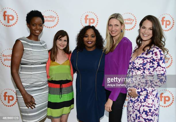 Tomiko Fraser Hines Kellie Martin Cocoa Brown Catherine McCord and Dr Zelana Montminy attend the Fertility Planit LA 2014 at UCLA Carnesale Commons...
