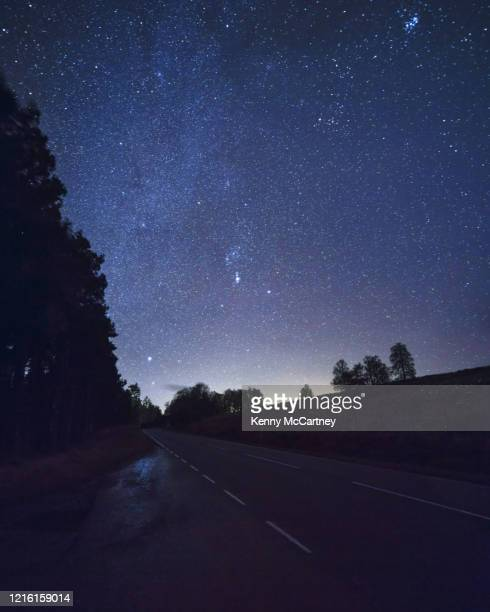 tomintoul starry skies - astronomy stock pictures, royalty-free photos & images