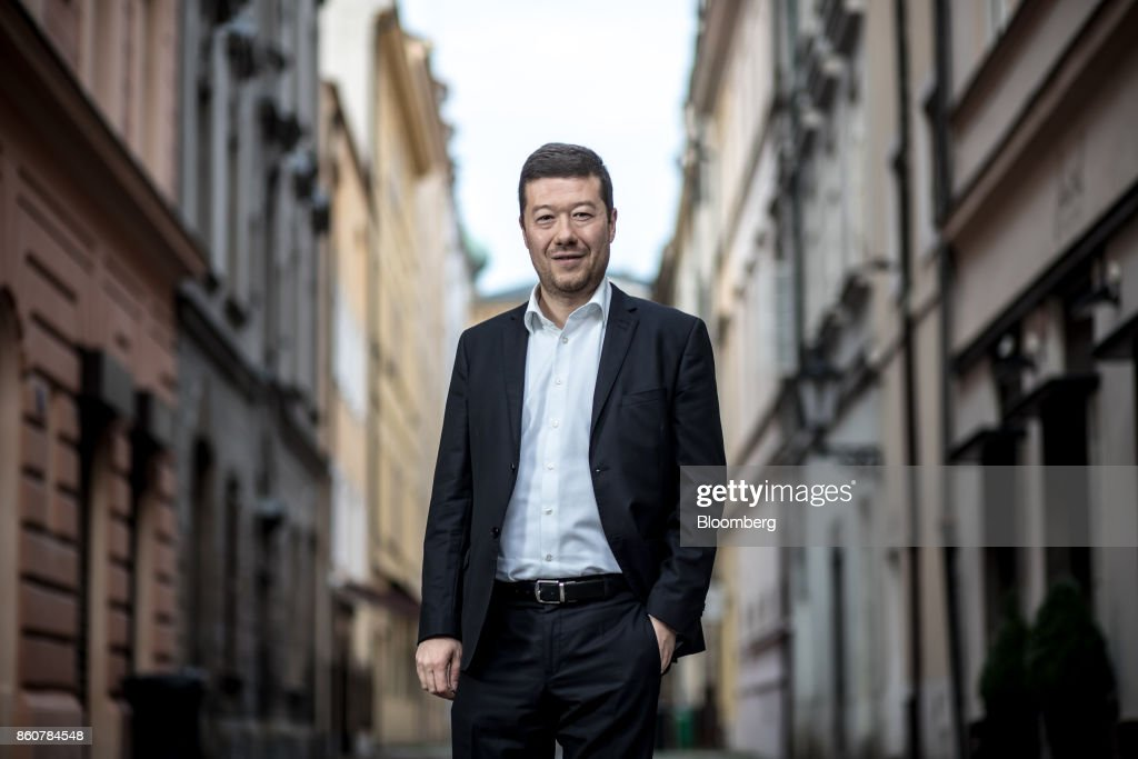 Tomio Okamura, leader of the Freedom and Direct Democracy party, poses for portrait after an interview in Prague, Czech Republic, on Tuesday, Oct. 10, 2017. The burgeoning appeal of the party, known as SPD, mirrors the recent electoral surge of the nationalist Alternative for Germany (AfD) in neighboring Germany and the likelihood that Austrias Freedom Party will become a part of the ruling coalition after Sundays elections. Photographer: Martin Divisek/Bloomberg via Getty Images