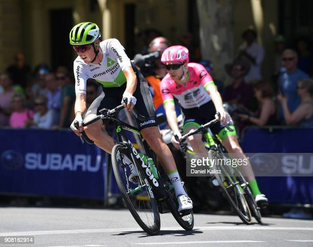 TomJelte Slagter of Netherlands and Team Dimension Data competes during stage six of the 2018 Tour Down Under on January 21 2018 in Adelaide Australia