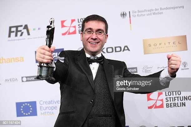 Tomm Moore with award during the European Film Awards 2015 at Haus Der Berliner Festspiele on December 12, 2015 in Berlin, Germany.