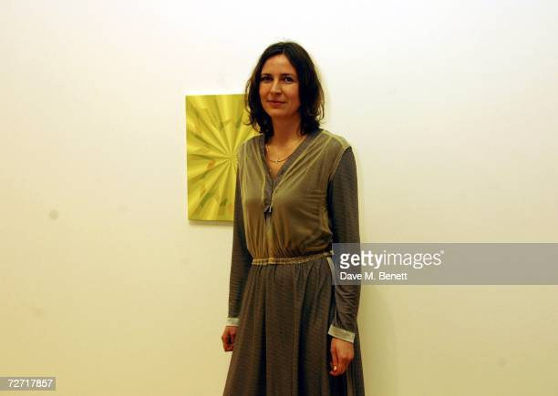 Tomma Abts winner of the Turner Prize 2006 poses at at Tate Britain December 4 2006 in London England