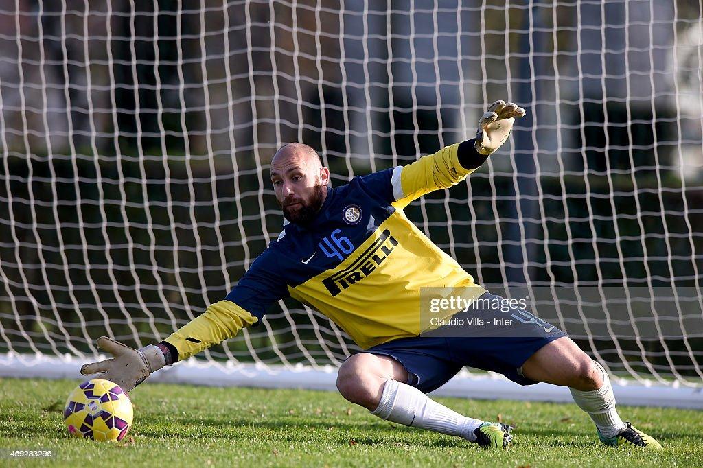 Tommaso Berni during FC Internazionale Training Session at Appiano Gentile on November 19, 2014 in Como, Italy.