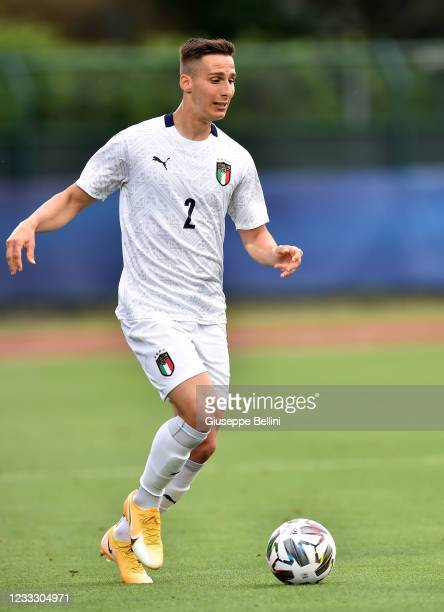 Tommaso Cassandro of Italy U20 in action during of Italy U20 gestures during the Friendly Match between San Marino U20 and Italy U20 at San Marino...