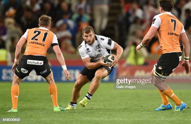 Tommaso Castello of the Zebre during the Guinness Pro14 match between Toyota Cheetahs and Zebre at Toyota Stadium on September 16 2017 in...