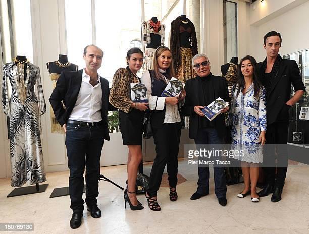 Tommaso Cavalli Rachele Cavalli Eva Cavalli Roberto Cavalli Cristina Cavalli Daniele Cavalli attend a presentation of the book Just Me autobiography...