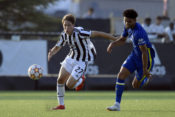 Tommaso Galante of Juventus during the UEFA Youth League match between Juventus U19 and Chelsea FC U19 at Juventus Center Vinovo on September 29,...