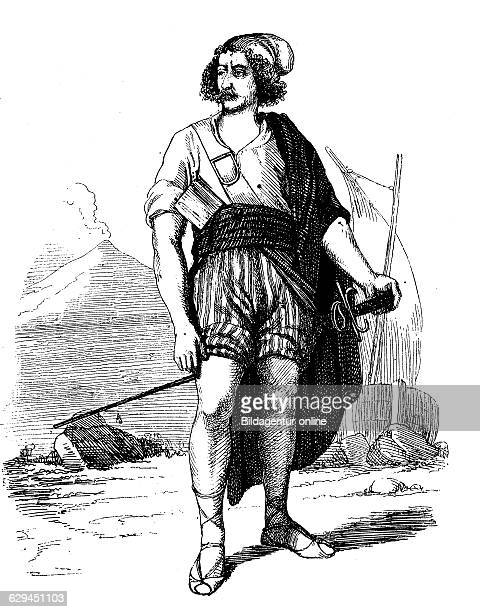 Tommaso masaniello tommaso aniello 1620 1647 the main leader of the uprising of naples in 1647 historical wood engraving circa 1888