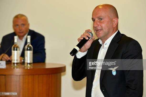 Tommaso Rocchi former player of SS Lazio during a SS Lazio press conference for the launch of the post career education project for youth and women...