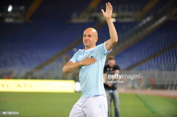 Tommaso Rocchi glory of SS Lazio during the match between SS Lazio Legends and West Ham Legends part of the event 'Di Padre In Figlio' on June 4,...