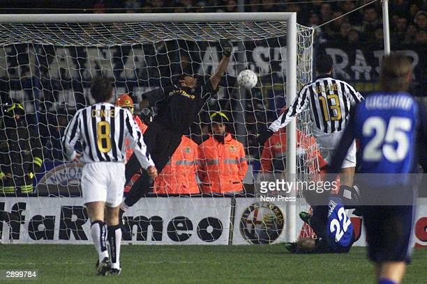 Tommaso Rocchi of Empoli scores during the Serie A match between Empoli and Juventus played at the Carlo Castellani Stadium on January 25 2004 in...