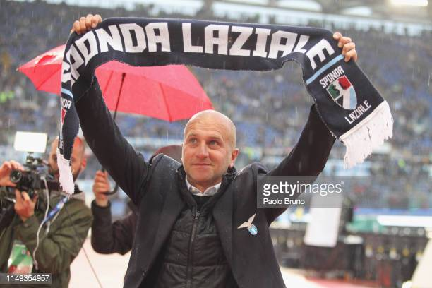 Tommaso Rocchi of SS Lazio before the TIM Cup Final match between Atalanta BC and SS Lazio at Stadio Olimpico on May 15, 2019 in Rome, Italy.
