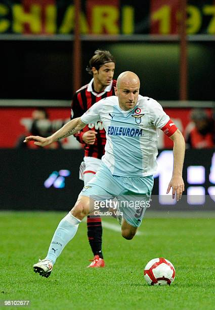 Tommaso Rocchi of SS Lazio during the Serie A match between AC Milan and SS Lazio at Stadio Giuseppe Meazza on March 28, 2010 in Milan, Italy.