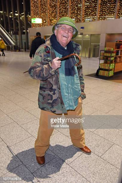 Tommi Piper leaves for RTL TV show 'I'm a celebrity- Get Me Out Of Here!' in Australia at Frankfurt International Airport on January 4, 2019 in...